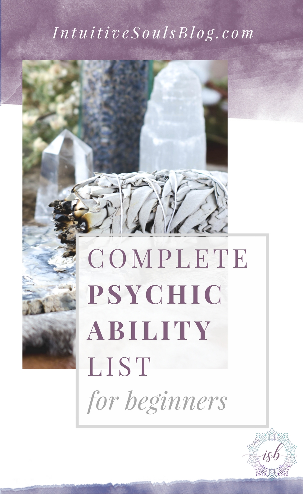 Psychic ability is super easy (and fun!) to understand with this complete beginner's list. By the end of this post, you'll have a clear understanding of all the intuitive gifts and how they work. You're sure to have an