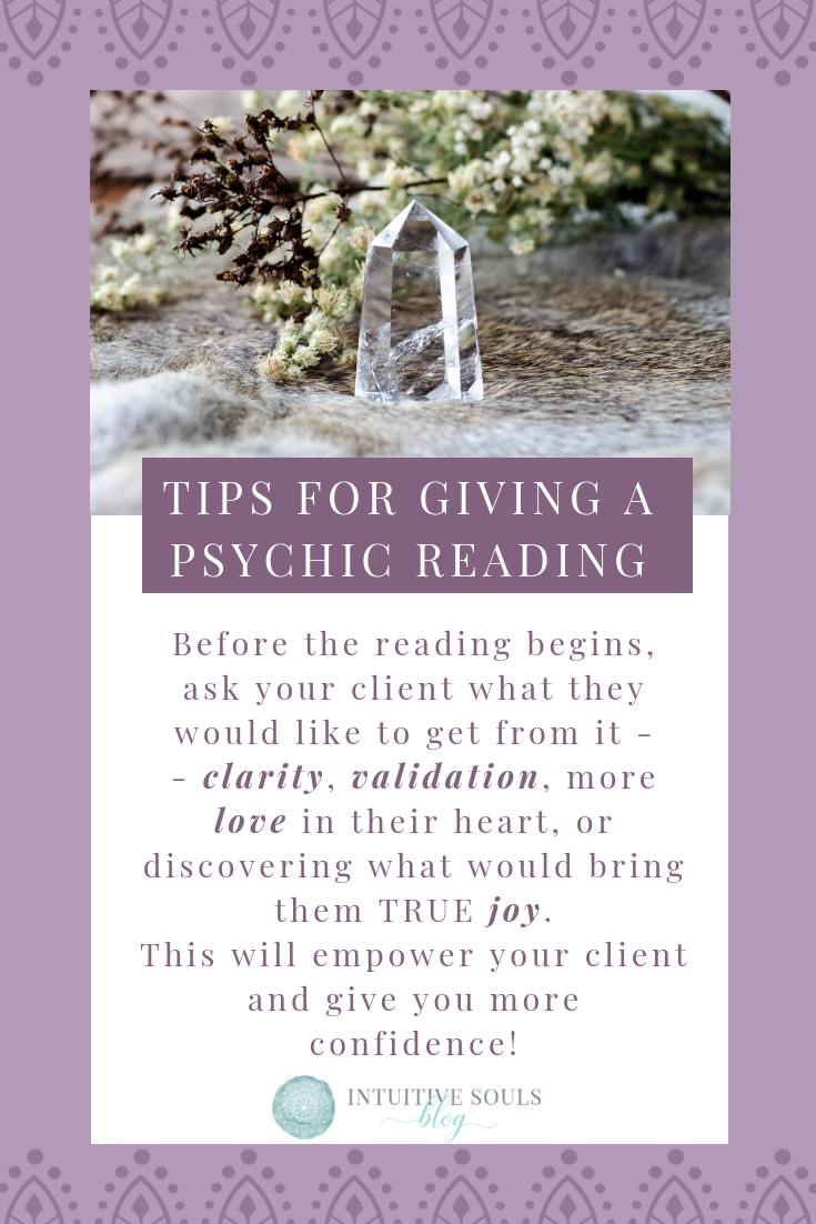 A simple, yet super powerful tip for giving a psychic reading with confidence. Read oodles of examples by clicking thru to the post. #intuitivesoulsblog