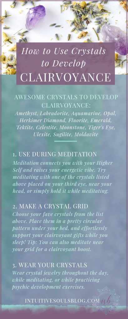 how to use crystals to develop clairvoyance