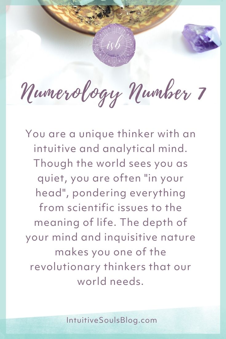 numerology number 7 traits